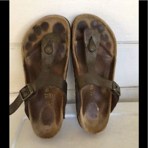 GIZEH by  Birkenstock Brown Thong Style Sandals
